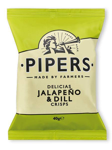 jalapeno nb 40g - Pipers Delicias Jalapeno & Dill Crisps 40gr