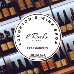 Loughton wine shop with wine in background and address 300x300 - Welcome to 8 Rocks